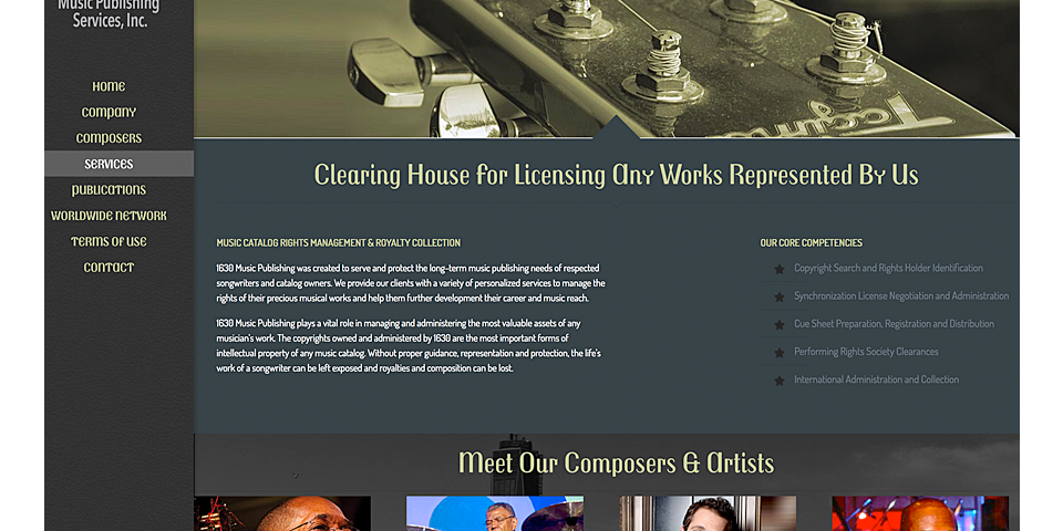1630 Music Publishing Services