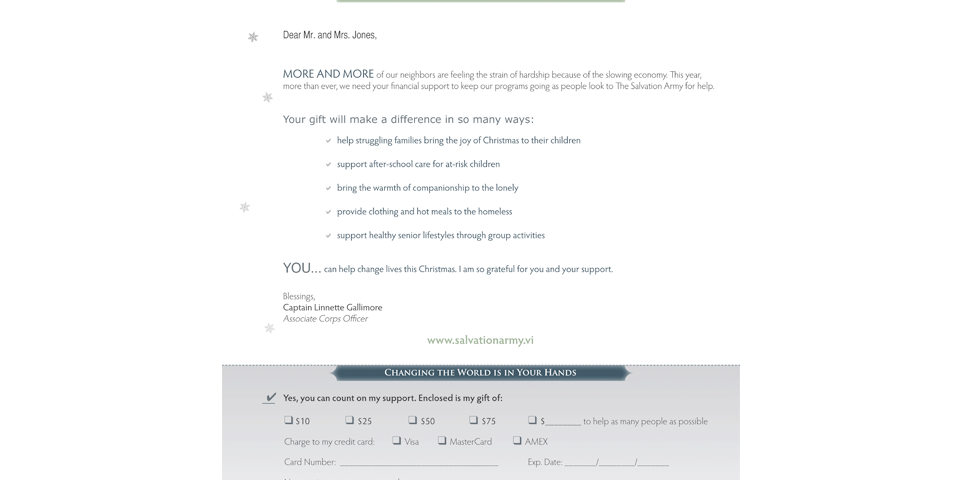 Direct Mail Appeal Solutions