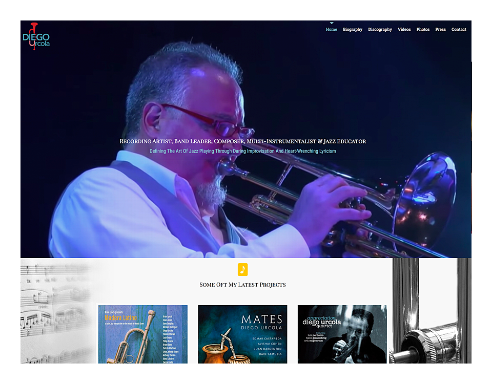 Jazz Artist Diego Urcola